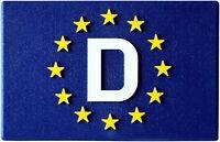 Euro Deutschland D Europa Emblem Schild Relief 3D Flagge HR 19151 selbstklebend