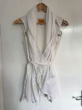 VIVIENNE WESTWOOD ANGLOMANIA WHITE SHIRT / WRAP TOP SIZE 8