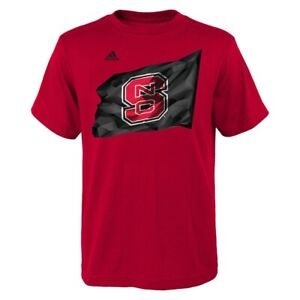 """NC State Wolfpack NCAA Adidas Youth Red """"Flag Bearer"""" T-Shirt"""