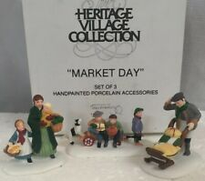 "Dept 56 Heritage Christmas Village ""Market Day"" (Set of 3) #56413 ~ New In Box"