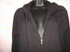$40 DASKIN NOW BLACK TIE HOODIE DRI-MORE SWEATER ZIP TOP CLEANED GREEN SMUDGE