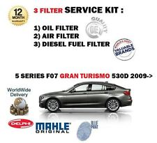 FOR BMW 530D GRAN TURISMO GT F07 2009-> OIL AIR FUEL POLLEN 5 FILTER SERVICE KIT