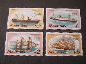 MAURITIUS  1980 SHIPS  SET of 4 STAMPS  SG 592-595  MNH
