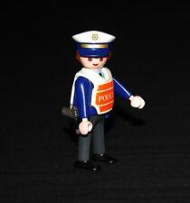 Playmobil police policier gilet orange et blanc jauni 4900 7798