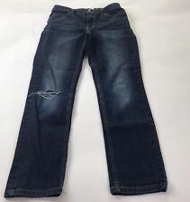 Cat & Jack Girls Skinny Denim Jeans Ripped Distressed Adjustable Pants Size 12