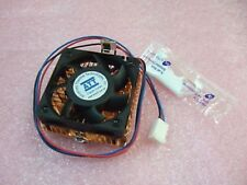 Pair of ATT CPU Copper Cooler With Fan & Heat Sink Silicone 2'' x 2'' New