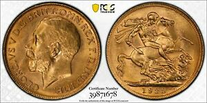 1923P Sovereign in PCGS MS63
