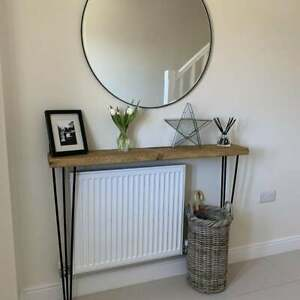 106.50cm Height Rustic Wood Console Table with Hairpin Legs