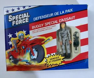 NEW 1989 Remco Special Force Assault Buggy 3 3/4 Action Figure US Forces (Gray)