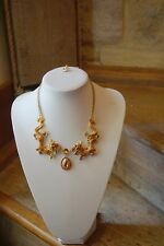 Butler and Wilson Enamel Dragon   Necklace  Gold NEW