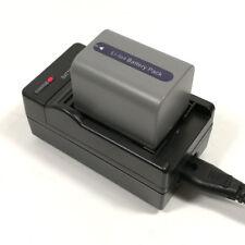 Charger + Battery for Sony NP-FP70 FP50 DCR-SR100E DCR-SR80E DCR-SR90E DCR-HC96E