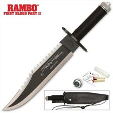 """Rambo First Blood II Officially Licensed 15"""" Survival Knife Signature Edition"""