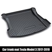 Car Rear cargo Trunk Mat Carpet Liner Protector Pad for Tesla Model 3 2017-2019