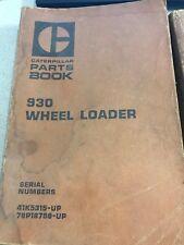 930 Wheel Loader Parts Book