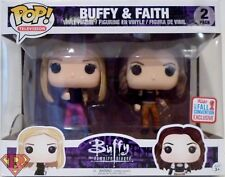 "BUFFY & FAITH Buffy the Vampire Slayer Pop Television 4"" Vinyl Figures NYCC 2017"