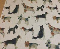 Studio g WALKIES Dog,Digital Print,Linen Look Fabric.Curtains/Upholstery/Cushion