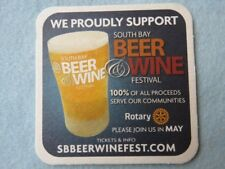 Beer Collectible Coaster: South Bay Beer & Wine Festival ~ San Diego, California