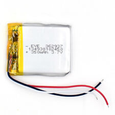 3.7 V 350mAh 362937 3 wire Li-Polymer Rechargeable Cell LiPo Battery for GPS MP3