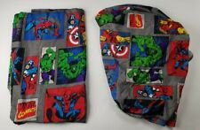 Marvel Kids Twin Bed Sheet flat and fitted 100%  Polyester