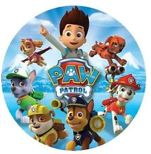 Paw Patrol Round Edible Cake Topper 19cm - Can be Personalised