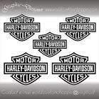5 ADESIVI DECAL STICKERS BAR AND SHIELD MOTO CUSTOM-CASCO HARLEY DAVIDSON