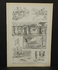 Harper's Weekly Single Page The French in Madagascar c1890s A6#74