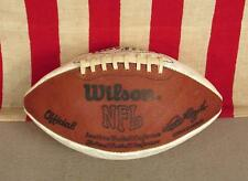 Vintage Wilson NFL Offiziell Brown & White Leather Football w/Laces Pete Rozelle