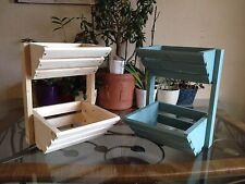Heavy Duty Mini wooden Veg Vegetable & Fruit Rack Storage In Sea Grass Finish
