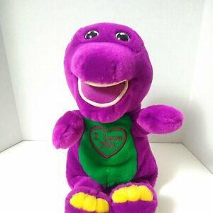 "Vintage Barney Plush Dinosaur Doll 10"" Purple Lyons Golden Bear Co Super soft"
