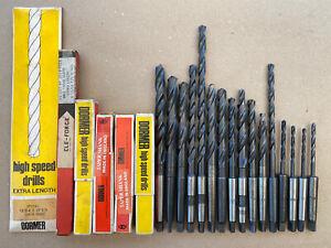 Imperial HSS MT1 Morse Taper Drills Osborn Cleveland Dormer New & Used