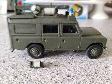 White metal built land rover military kit