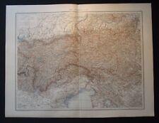 Antique Map: Austrian Alps / Austria, Europe, Universal Atlas, 1893