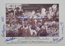 Angleterre 1966 Signé x 21 Proof Inc Bobby Charlton Ball Hurst Peters les banques 66
