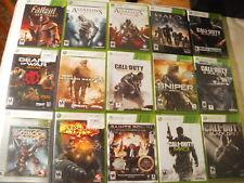 15 X-Box 360 Games