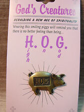 """JJ"" Jonette Jewelry Bronze Pewter 'God's Creatures - HOG' Tac Pin"
