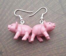 PIG  EARRINGS  Funky Punk Animal Farm Charm Jewelry Kitsch Pork Jewelry PIGGY