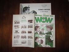 WOW FANZINE DI FUMETTI FANTASCIENZA CINEMA ANNO 1° N°3 ANNO 1976 CON INSERTO
