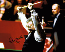 Dennis Taylor ORIGINAL SIGNED 1985 Snooker Win 10x8 Photo AFTAL Autograph COA