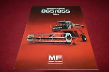 Massey Ferguson 865 855 Rice Combine Dealers Brochure Yabe11