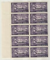 South Africa 1952 2d SADIPU O/P Sheet Of 32 MNH J6415