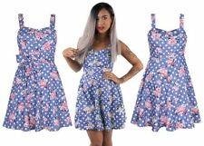 Floral A-Line Dresses for Women with Pleated