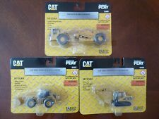 Three Norscot CAT Die Cast Wheel Loader, Auger Scraper, Excavator HO 1:87 NEW