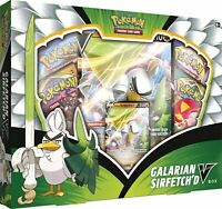 Pokemon TCG Galarian Sirfetch'd V Box Collection Sword & Shield 4 Booster Packs