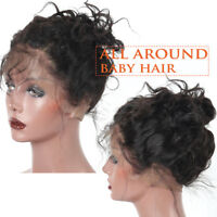 Curly Pre-Plucked 360 Lace Frontal Closure With Baby Indian Remy Human Hair