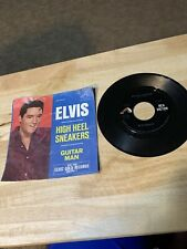 ELVIS PRESLEY: Guitar Man / High Heel Sneakers 45 (PS, sl cw, clean!) Oldies