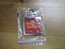 Wells Fargo Company Letter Logo Keychain! New! Brand New in Bag! Rare!