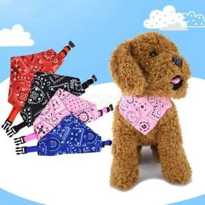 S/M/L Adjustable Pet Dog Bandana Collar Triangle Scarf For Puppy Cat Neckerchief