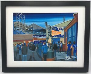 Carlisle Utd Brunton Park High Quality Framed Football Art Print. Approx A4.