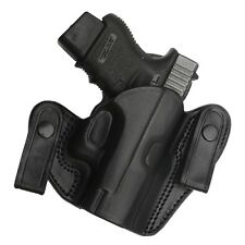 "TAGUA BLACK LEATHER DUAL SNAP OPEN TOP IWB HOLSTER - 1911 4"" Barrel (Non-Rail)"