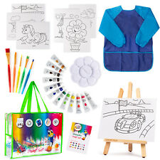 Art paint Set For Kids 27 piece Drawing Kit,Painting Supplies for Children